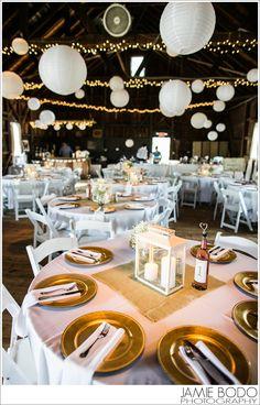 Rodes Barn Wedding  in Swedesboro, NJ Reception Barn room {Michelle + George}