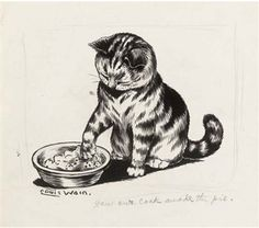 'How our cook made the pie' By Louis Wain