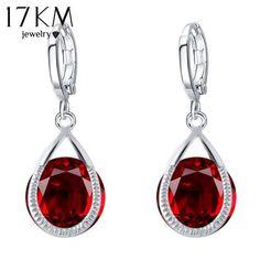 17KM Long Crystal Water Drop Earrings Brincos Boucle Oreille Gold Colo – ROSalarsJewelry