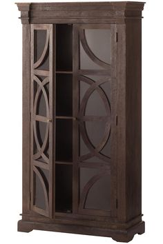 Home Decorators Collection Circle Bookcase With Glass Doors In Dark Caffe  Is A Practical And Beautiful Addition To Your Home.