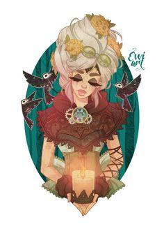 Steampunk Doll, Emmanuel Viola on ArtStation at… Steampunk Witch, Steampunk Dolls, Steampunk Drawing, Evvi Art, Artist Art, Art Sketches, Art Drawings, Steampunk Illustration, Character Art