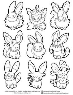 Coloring. Eevee Evolutions Coloring Pages Printable Eevee Coloring Pages. eevee coloring pages