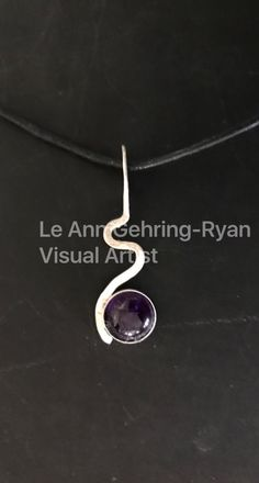 Sterling Silver Squiggle with Amethyst by GehringRyanVisualArt