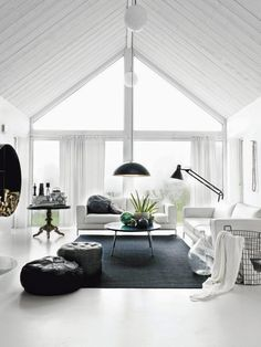 4 Peaceful Clever Hacks: Modern Minimalist Bedroom Clothing Racks minimalist home garden living rooms.Minimalist Home Essentials List minimalist bedroom plants home.Minimalist Home Interior Cleanses. Home Living Room, Living Spaces, Living Area, Cozy Living, Kitchen Living, Black And White Living Room Decor, Bedroom Black, Interior Architecture, Interior Design
