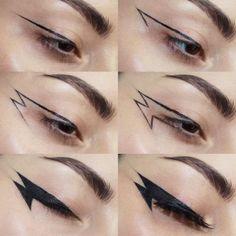 zodiac signs as eyeliner . eyeliner according to zodiac sign . eyeliner for zodiac signs . Makeup Eye Looks, Eye Makeup Art, Makeup Inspo, Makeup Inspiration, Makeup Ideas, Eyeliner Makeup, Emo Eyeliner, Eyeliner Waterline, Apply Eyeliner