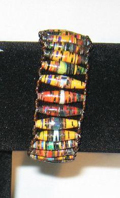 Beautiful handmade bracelet multi-colored beaded bracelets Fair-trade African Handmade Bracelets, Beaded Bracelets, Fair Trade, Bangles, African, Beautiful, Color, Ideas, Jewelry