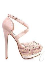 damske ruzove sandale na platforme #shoes #heels