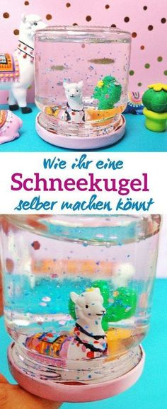 DIY Schneekugel - einfache und schnelle Schritt für Schritt Anleitung You can easily make a snow globe yourself. Whether as a last-minute gift or to entertain children on their Diy Gifts For Kids, Diy For Kids, Crafts For Kids, Diy Crafts To Sell, Easy Crafts, Easy Diy, Sell Diy, Decor Crafts, Diy Snow Globe