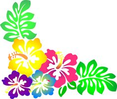 hawaiian flower clip art tropical plants clip art vector clip art rh pinterest com hawaiian flowers border clipart hawaiian flowers clipart no background