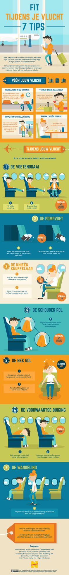 I Love Health | 7 tips om fit te blijven tijdens het vliegen | http://www.ilovehealth.nl