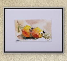 Original Watercolors Painting on Aquarelle-Still life,Fruit Painting,Still Life Painting, Wall Decor,Watercolors, Art,Nature,Colorful fruits