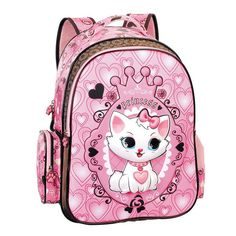 5da643bff9 2017 Children School Backpack Cute Cat Kids Bags Pink Bookbag Female School  Backpacks for Teens Girls Student Schoolbag