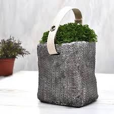 how to make cement cloth planters - Google Search
