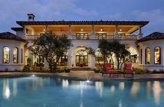 Spanish Oaks Hacienda - mediterranean - pool - austin - JAUREGUI Architecture Interiors Construction