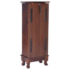 Wood Box Storage Jewelry Armoire Cabinet Oganizer Chest Stand