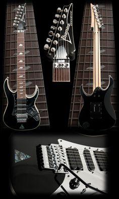 Ibanez Steve Vai UV777 Signature Electric Guitar - BLK