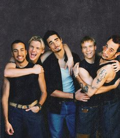 Backstreet Boys:  AJ McLean, Nick Carter, Kevin Richardson, Brian Littrell, and Howie Dorough. <3