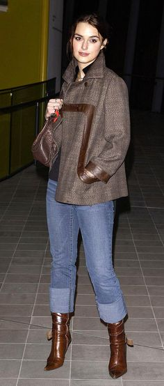 "Keira knew that a poncho paired with cropped jeans and a pair of heeled boots screamed ""casual""."