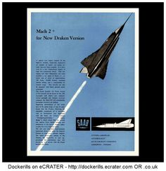 Saab Draken Advert. From Interavia Magazine, 1959.