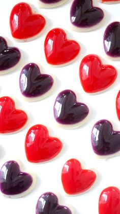 Recipe with video instructions: Heart-shaped gummies bring the awwww... Ingredients: 1 packet (85 grams jello, 3 envelopes (3 tablespoon) gelatin, 1/3 cup water, 3 envelopes (3 tablespoon)...
