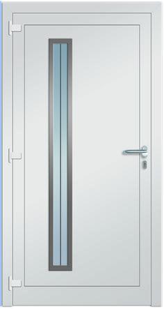 Modell Deneb Aluminium-Eingangstüre in weiß - Innenansicht! Sternstunden-Türen…