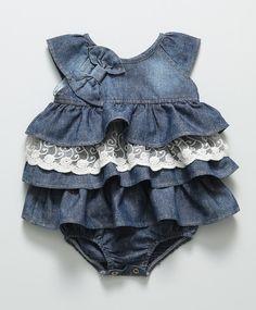 ღ¸.•❤ Vestido Baby Jeans Azul
