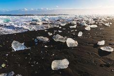 Iceland, Diamond Beach, Jökulsárlón lagoon