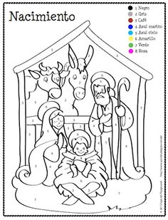 spanish christmas color by number christmas coloring sheetsspanish