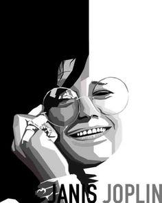 Janis Joplin - Vector