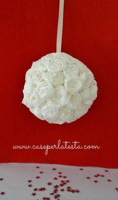 Crepe paper roses ball tutorial