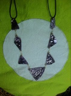 CDs recycled necklace