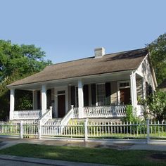 Best Old House Neighborhoods Cottages and Bungalows Shed Plans, House Plans, Creole Cottage, New Urbanism, Future Buildings, Cottages And Bungalows, Woodworking Projects Plans, Old Houses, Small Houses