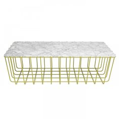 Sample Large Table/Marble Top, yellow base