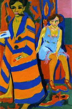 Ernst Ludwig Kirchner - Self Portrait with Model, 1910