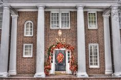 The Psi chapter of Chi Omega at the University of Arkansas. (With holidary decor!)