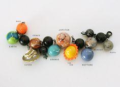 Solar System Polymer Clay Charm Bracelet - Thompson Family-Life