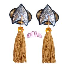 Burlesque Pasties STAR TREK Sparkle Sequin Nipple Tassels KIT. $45.00, via Etsy.