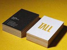 love the yellow edges and the letterpress logo!