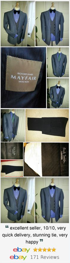 Mens RICHARD JAMES Savile Row Chest 42R + Mens PAUL SMITH Black Trouser 35W41L