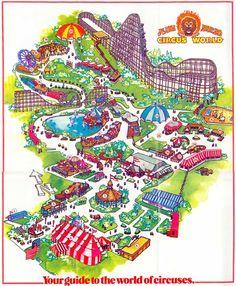 Theme Park Brochures Circus World - Theme Park Brochures Abandoned Theme Parks, Abandoned Amusement Parks, Theme Park Map, Art Careers, Shivaji Maharaj Hd Wallpaper, Attraction, Vintage Florida, World Pictures, Map Design