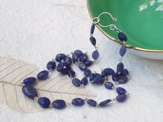 Violet blue tanzanite graduated necklace with a by graciedot, £33.00