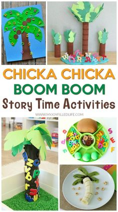 Chicka Chicka Boom Boom will come to life with these fun story time activities! #chickachickaboomboom #storytime
