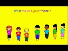 What makes a good friend? A song for children about the qualities of a good friend. Great for social skills development.