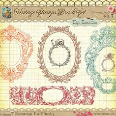 Free Vintage Decorative Frame Borders and Photoshop Custom Shapes - CU4CU - StarSunflower Studio