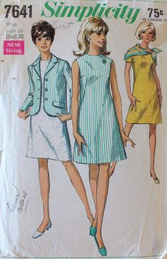 1960s 4-H Pattern  Vintage Dress and Jacket Sewing Pattern