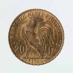 Jules-Clément Chaplain (1839-1909), Pièce de 20 francs en or de la IIIe République, 1904. © Julien Vidal / Musée Carnavalet / Roger-Viollet