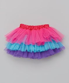 Love this Hot Pink & Blue Tiered Tutu - Toddler by Miss Fancy Pants on #zulily! #zulilyfinds