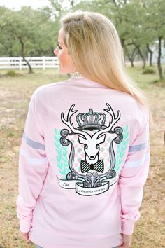"""BRAND NEW JERSEY! """"Sir Happy Jersey"""" - Long Sleeve! One of our absolute FAVORITES from the new line! WWW.JADELYNNBROOKE.COM"""