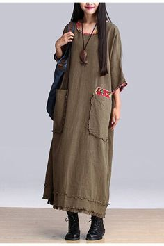 Art Maxi Size Casual Loose Long Dresses Women Clothes Q2601A Clothes will not shrink,loose Cotton fabric, soft to the touch.!!!!!Care: hand wash or machine wash gentle, best to lay flat to dry.*Material:Cotton *Color :Photo Colors*Measurement: Bat SleeveBust:148 cmWaist:146 cmSweep:156 cmLength:124 cmSleeve Length:27 cmCuff:28 cm ==========================&#x...