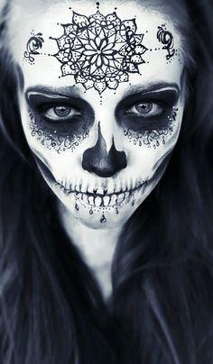 Halloweenpainting Sugar Skull Mirjam Munstein